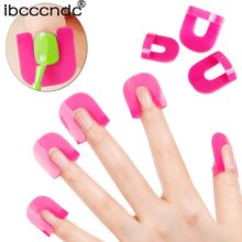 New 26PCS Professional French Nail Art Manicure Stickers Tips Finger Cover Polish Shield Protector Plastic Case Salon Tools Set(China)