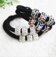Elastic hair bands with rhinestones Ball Lovely gift for women girl hair accessories Free shipping(China)