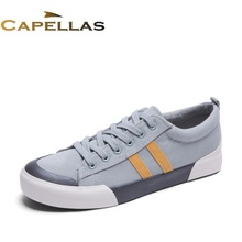 CAPELLAS New Mens Casual Shoes Original Breathable Men Canvas Shoes Flat Lace-Up Shoes Sport Designer New Brand Men Flats(China)