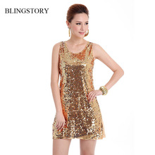 BLINGSTORY European style beautiful shinning Bling-Bling Sequin lady club dress, Russian apparel vestidos Dropshipping(China)