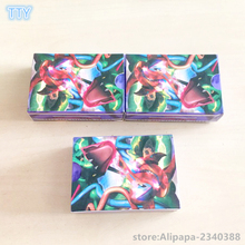 Boxed 60Pcs/Set  Japan Anime figures game card English Shine XY EX Cards 13 Mega+47 EX  Cards Toys for kids best gifts