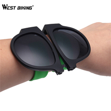WEST BIKING Folding Bicycle Polarized Sunglasses Eyewear Bracelet UV400 Oculos De Sol Feminino Gafas Bicycle Bike Sun Glasses(China)