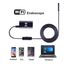 8mm Lens HD Wifi Endoscope Camera with 1m 1.5m 2m 3.5m 5m Soft Hard Cable Waterproof IOS Iphone Endoscope Android Car Endoscope(China)