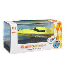 Hot Cool 2.4G Kids Toys 4 Functions Mini RC Speedboat Boat Remote Control Toys for Boys Children Xmas Gifts with Plasic Box(China)