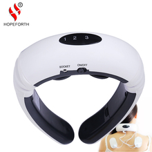 HOPEFORTH Electric Pulse Wireless Remote Control Neck Massager Cervical Vertebra Treatment Massage Acupuncture Magnetic Therapy(China)