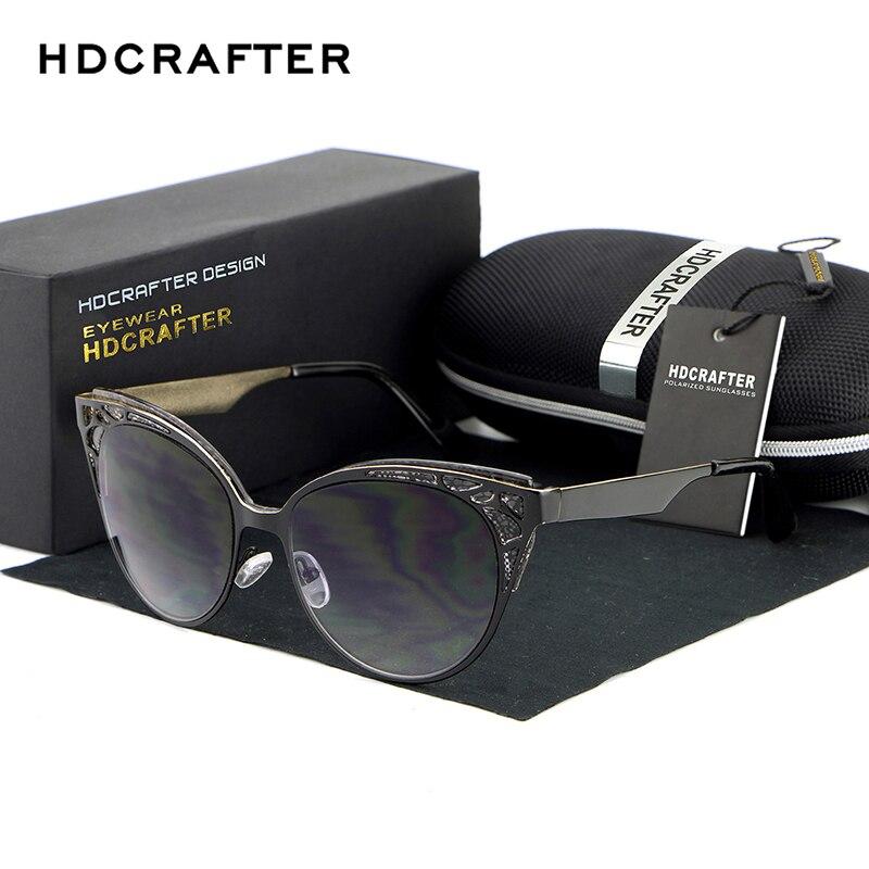 2017 HDCRAFTER New Luxury Brand Sunglasses Women Vintage Retro Designer Sun Glasses Cat Eye Sun Glass Oculos De Sol Uv400<br><br>Aliexpress