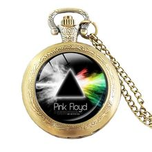 Chain hot music band pink Freud logopocket watch zinc alloy style rock fans gift necklace ladies partner gift(China)