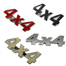 Metal+Aluminum 3D 4x4 Displacement Car stickers Logo Emblem Badge Truck Auto Motor Car Styling Sticker Decal Four-wheel drive(China)