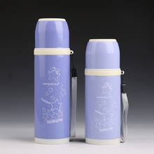 Thermal Water Bottle Hand Pressing Type Cute Vacuum Flask Thermo Cup Garrafa Termica Inox Outdoor Travel Cup(China)