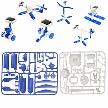 6 IN 1 Solar Educational Robots Plane Kit DIY Children Kids Creative Funny Toy  #T026#