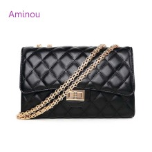 Fashion Small Flap Bag Crossbody Bags Women Luxury Quilted Plaid Chains Shoulder Handbag Famous Brand Design Lady Messenger Bag