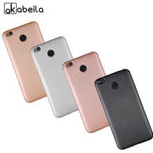 AKABEILA Cell Phone Shell Protective Cover Case For Xiaomi Redmi 4X Carbon Fiber Soft TPU Back Covers Cover Original Phone Case(China)