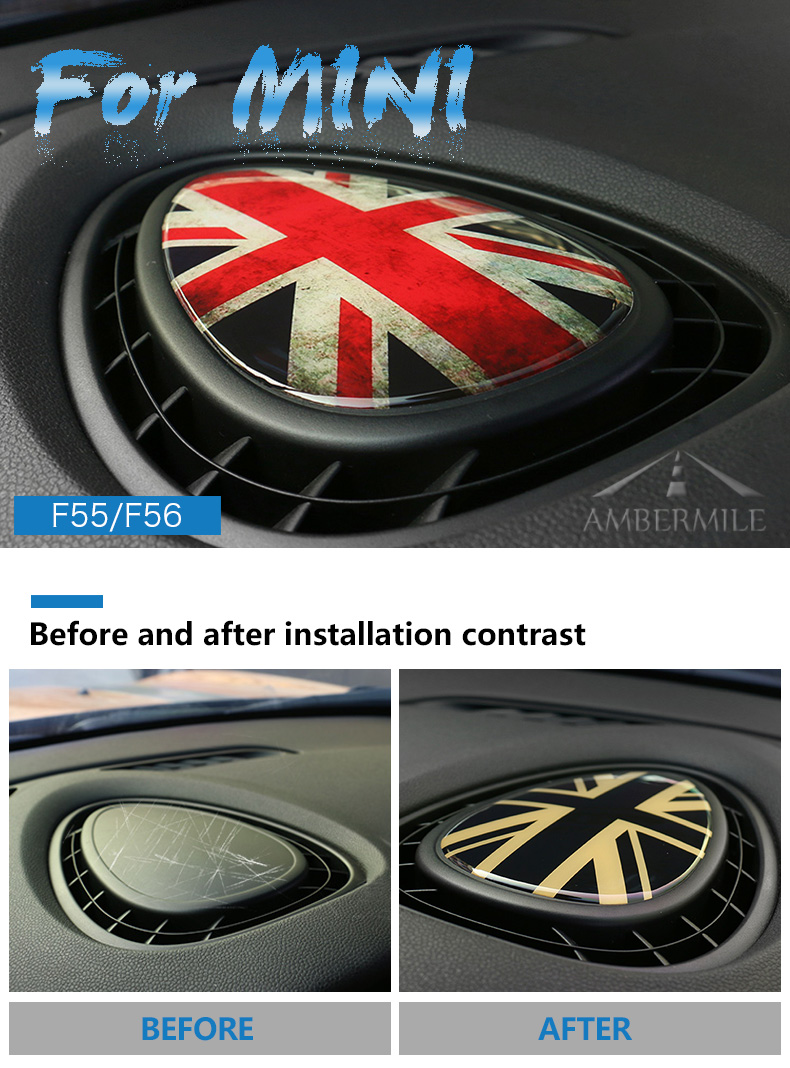 3D Crystal Epoxy Car Console Air Outlet Vent Cover Sticker for Mini Cooper JCW One F56 F55 F54 Accessories Car Styling (1)