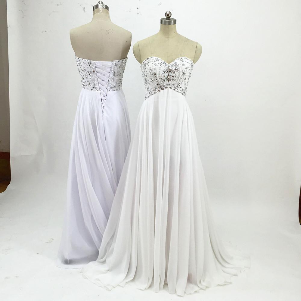 Sexy Chiffon A Line Beach Wedding Dresses Vintage Boho Cheap Bridal Gowns Vestidos De Novia Robe De Mariage Bridal Gown in stock 18