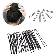LNRRABC 20PCS/50PCS/Set Women Hair Accessories Black Waved U-shaped Popular Barrette Salon Updo Hair Clips