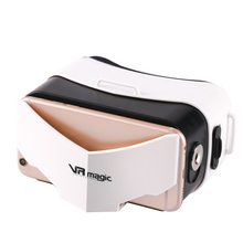 2017 New Simple Light Portable 3D VR glasses MINI For Smartphone With Top Quality Lens Cute Panda Shape 3D Glasses VR magic yi(China)