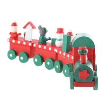2016 New Trains Toy Model Stacking Wooden Train with 4 Blocks for Ornament Decoration Great Kids Toy for Children Christmas Gift