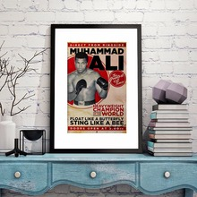 Retro Ali Muhammad Ali Quote Canvas Art Print Painting Poster Wall Pictures For Living Room Home Decoration Decor No Frame