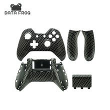 Black Carbon Fibre Custom Shell Wireless Controller Replacement Housing for Microsoft Xbox One