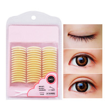 240Pair Invisible Double Eyelid Stickers Adhesive Eyeliner Eye Makeup Tapes Fresh Color Eyelid Tape with Y-shape Auxiliary Fork(China)