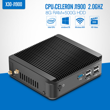Mini PC celeron N2930 N2940 J1900 8GB RAM 500GB HDD+wifi Mini Desktop Computer Fanless Thin Client Support Hd Video