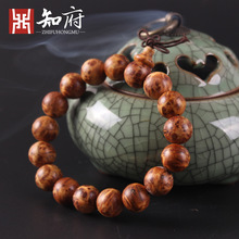 2017 fashion natural fragrance Jinzhong Bo luxury high-quality Buddha beads bracelet necklace men's jewelry aging of the old mat