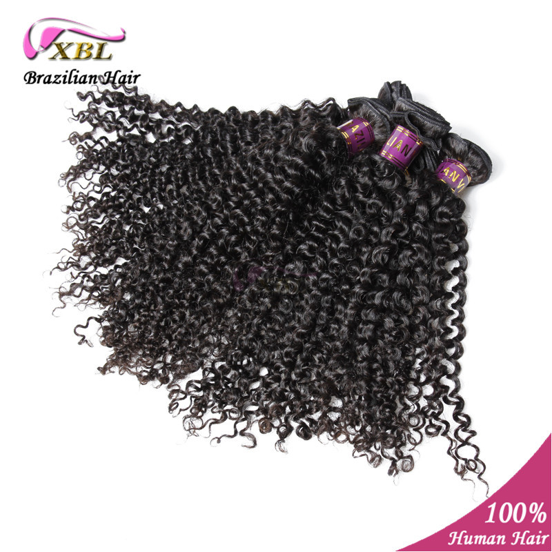 natural color Brazilian virgin curly wave hair 100% human hair curly wave 3pcs lot XBL hair brazilian virgin curly hair<br><br>Aliexpress