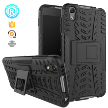 R For Alcatel Idol 4 Case TPU + PC Silicone Kickstand Covers For Alcatel One Touch Idol 4 Case 6055K For Blackberry DTEK50 Cases(China)