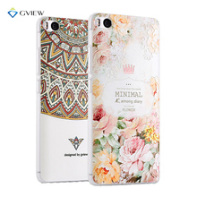 GVIEW 3D Relief Printing Clear Soft TPU Case For Xiaomi Mi6 Mi 6 Back Cover Phone Bag Ultra-thin Shell Coque(China)