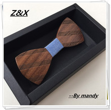 The newest fashion personality pure handmade natural wood male leisure men wood bow ties wood Butterfly Design ZXY0520(China)
