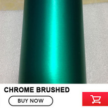 chrome Brushed Finishing Vinyl Wrap Tiffany Car Wrapping chrome Brushed Steel Wrap Film With Air Release 1.52*20M/Roll