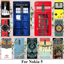 TAOYUNXI Soft TPU Phone Cases For NOKIA 5 Nokia heart 5.2 inch Covers Sunflowers Bag Silicone Telephone Booth Shell Skin(China)