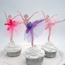 Party-Decoration-Supplies Cake-Toppers Ballerina-Shaped Mariage Paperboard Favors Wedding