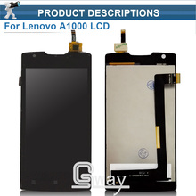 Black/ White Good Quality For Lenovo A1000 LCD Display With Touch Screen Digitizer Assembly Free Shipping + Tracking Number