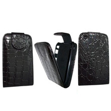 Luxury Crocodile Flip Leather Case Cover For Blackberry Curve 8520 BB8520(China)