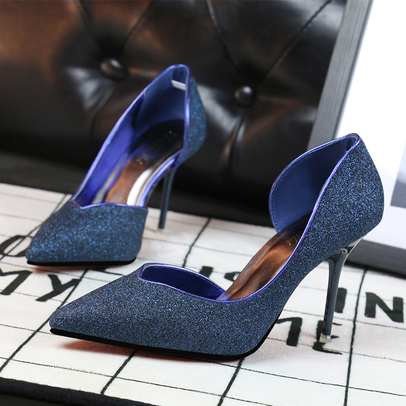 Ladies High Heels Sexy  Womens OL Shoes In High Heels Shallow Pointed Mouth Side Hollow Out Single Shoe Heels Party Shoes<br><br>Aliexpress