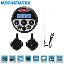 Waterproof Marine Radio Bluetooth Stereo UTV ATV Sound System Tractor MP3 USB Player+6.5''waterproof tower speaker+Radio Antenna