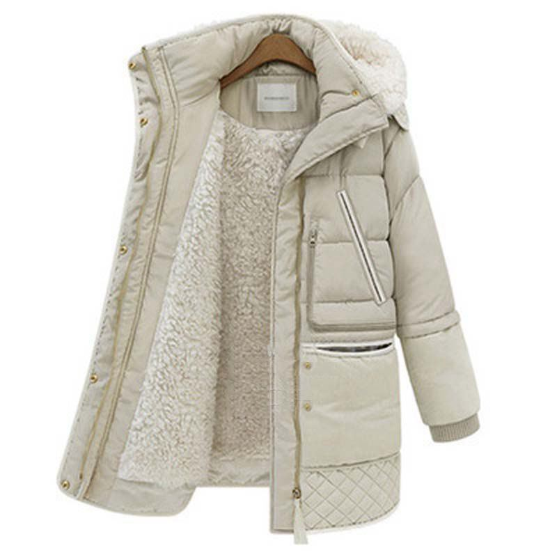 fashion new winter thick down jackets white lambs wool womens down coat outerwear parkas overcoat plus size YF208Одежда и ак�е��уары<br><br><br>Aliexpress