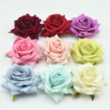 Fashion 8 Colors Women Ladies Rose Flower Hairpin Fashion Brooch Hair Clip Wedding Headdress Headwear hair clip