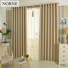 NORNE Solid Heavy Blackout Curtain 85% Shading Rate,Thermal Insulated Privacy Assured Window Curtains for Bedroom Living Room(China)