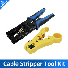 CCTV camera installation tool Compression Tool for F/BNC/RCA RG-58/59/62/6(3C/4C/5C) type and Cable Stripper tool kit