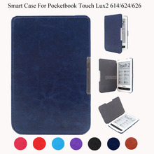 Magnet Smart Cover Case for Pocketbook 614/624/626 Touch Lux2 PU Leather Ebook  Case