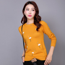 2016 New arrival women fashion pullovers long-sleeve swan pullover girl sweater fashion tops for women 6 colors Korean Fashion