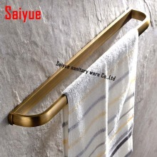 23 inch Creative Soild Brass Towel Bar Antique Brass Wall Mount Single Bar Towel Rings towel hanger wall mounted(China)