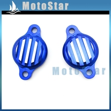 Blue CNC Aluminum Tappet Valve Covers Caps For Chinese Lifan 125cc 140cc Engine Pit Dirt Monkey Bike Motorcycle(China)