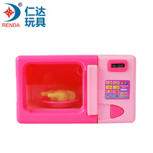 Simulation mini children play small appliances microwave oven baby plastic suit girl kitchen toy duck toy doll