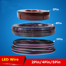 10m RGB Led Connector LED RGB cable Extension Extend Wire Cord Connector For RGB rgbw single color 5050 3528 LED Strip