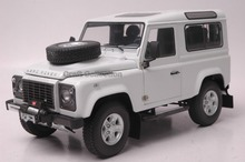 Car Model for White 1/18 Rover Defender 90 Kyosho Diecast Alloy Model Car (Two spare tire)