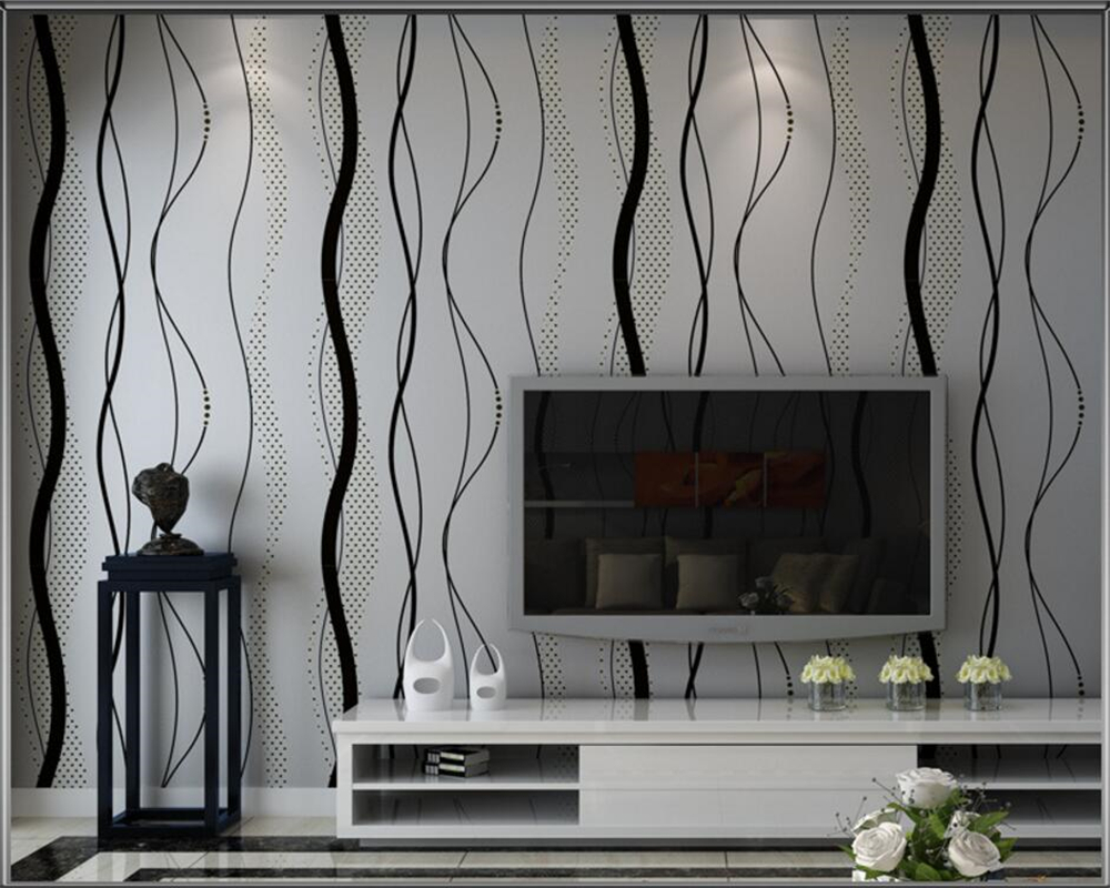 Beibehang Modern 3d wallpaper Water ripple curve stripes TV setting  wallpaper wall in the living room volume 3d wallpaper roll<br>