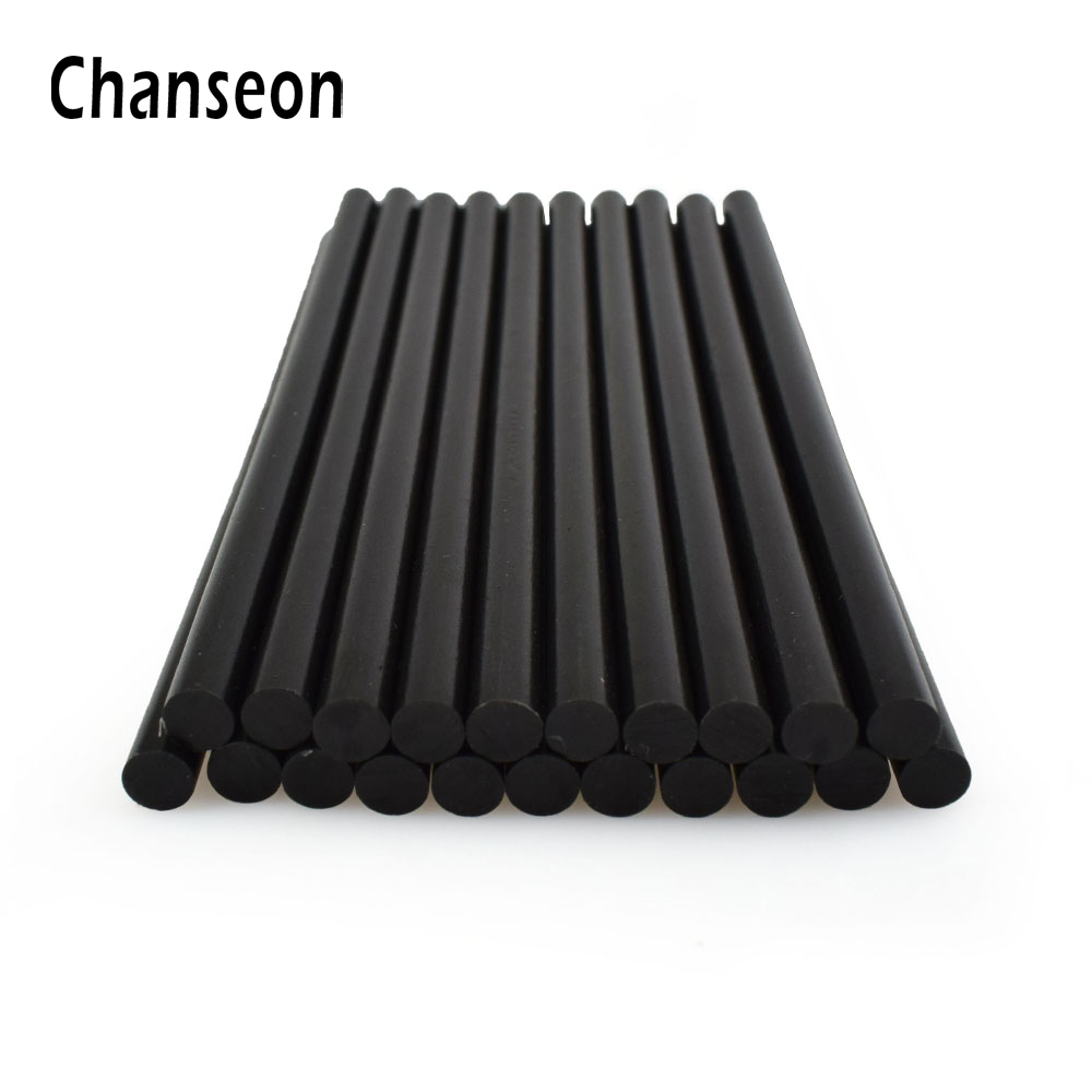 Chanseon Glue Gun Accessories Sticks Adhesive DIY Repair Tools 20 pcs/lot 7mm 150mm Black Hot Melt Glue Sticks